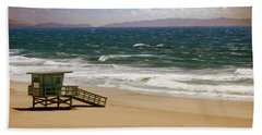 Hand Towel featuring the photograph Windy Beach Day by Joseph Hollingsworth