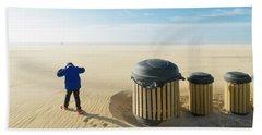 Windy Beach Bath Towel by Hans Engbers