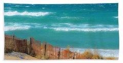 Windy Day On Lake Michigan Bath Towel