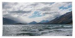Bath Towel featuring the photograph Windy Day On Lake Wakatipu by Gary Eason