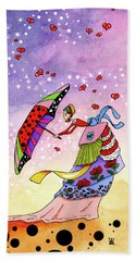 Windy Days Hand Towel by Dawnstarstudios