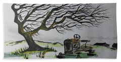 Hand Towel featuring the painting Windy Ridge by Jack G Brauer