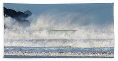 Windy Seas In Cornwall Bath Towel