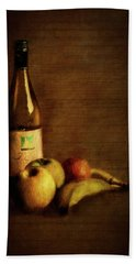 Wine And Fruit Hand Towel