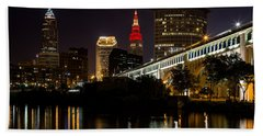 Bath Towel featuring the photograph Wine And Gold In Cleveland by Dale Kincaid