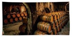 Wine Barrels At Stone Hill Winery_7r2_dsc0318_16-08-18 Bath Towel