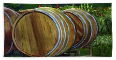 Wine Barrels Bath Towel by Donna Walsh