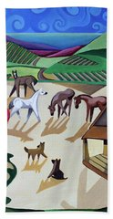 Wine Farm Bath Towel