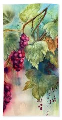 Wine Grapes Hand Towel