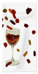 Hand Towel featuring the photograph Wine Gums Sweets by David French