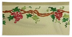 Wine On The Vine Hand Towel by Joseph Hendrix