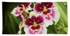Wine Orchids- The Risen Lord Hand Towel by Penny Lisowski