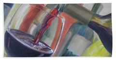 Bath Towel featuring the painting Wine Pour by Donna Tuten