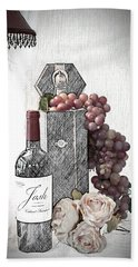 Bath Towel featuring the photograph Wine Tasting Evening by Sherry Hallemeier