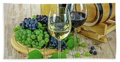 Bath Towel featuring the painting Wine Tasting by Harry Warrick