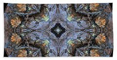 Winged Creatures In A Star Kaleidoscope #1 Bath Towel