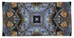 Winged Creatures In A Star Kaleidoscope #2 Bath Towel