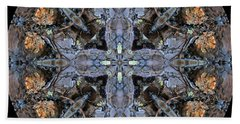 Winged Creatures In A Star Kaleidoscope #3 Bath Towel