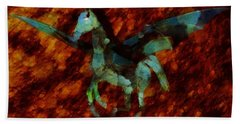 Winged Horse By Sarah Kirk Hand Towel