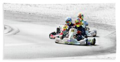 Wingham Go Karts 04 Bath Towel by Kevin Chippindall