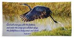 Wings Of Refuge With Scripture Bath Towel