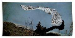 Wings Of Winter Bath Towel by Heather King