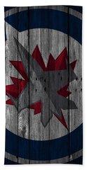 Winnipeg Jets Wood Fence Bath Towel
