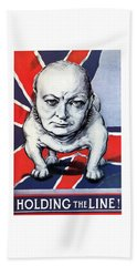 Winston Churchill Holding The Line Hand Towel