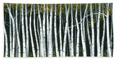 Bath Towel featuring the painting Winter Aspen 3 by Michael Swanson