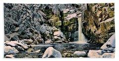 Winter At Kinsman Falls Hand Towel