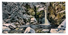 Winter At Kinsman Falls Bath Towel