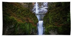 Winter At Multnomah Falls Hand Towel