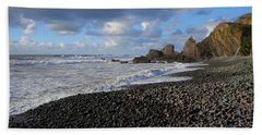 Winter At Sandymouth Hand Towel