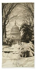 Winter At The Capitol Hand Towel