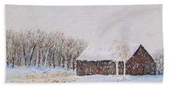 Winter Barn Bath Towel by Stanton Allaben