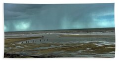 Bath Towel featuring the photograph Winter Beach by Debbie Cundy