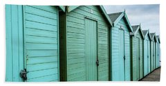 Winter Beach Huts IIi Bath Towel