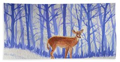 Winter Begins Bath Towel by Li Newton