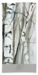 Winter Birch Hand Towel by Laurie Rohner
