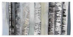 Winter Birches Bath Towel