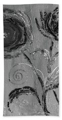Bath Towel featuring the digital art Winter Blooms IIi by Robin Maria Pedrero