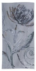 Bath Towel featuring the painting Winter Blooms by Robin Maria Pedrero