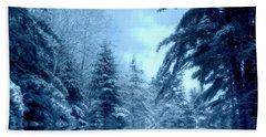 Winter Blues Hand Towel