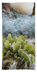 Winter Cacti Hand Towel