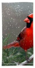Winter Cardinal Bath Towel