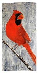 Winter Cardinal Hand Towel