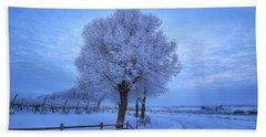 Winter Chill Version 3 Hand Towel by Lynn Hopwood