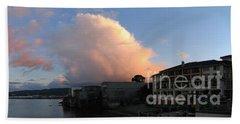 Winter Clouds Over Monterey Bay Hand Towel