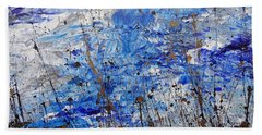 Bath Towel featuring the painting Winter Crisp by Jacqueline Athmann