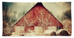 Winter Day On The Farm Bath Towel